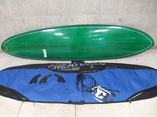 KONAMOON コナムーン 7'2 サーフボード ファンボード フィン付き 収納ケース付き 全長214cm