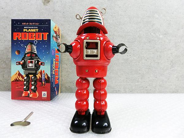 ロボットコレクション ブリキ メカニカル プラネットロボット レッド 箱付き 管理0606VVD