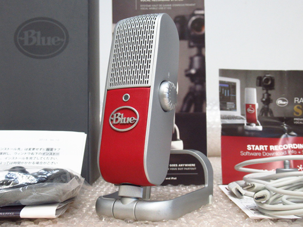 美品 Blue ブルー Raspberry STUDIO Premium Mobile USB Microphone コンデンサーマイク 管理2T1123B