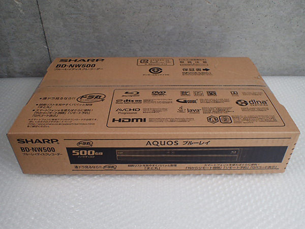 シャープ BD-NW500 ブルーレイレコーダー 未使用