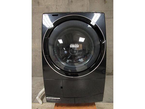 日立 BD-S7400L ヒートリサイクル 風アイロン ビッグドラム スリム 洗濯機 2012年製